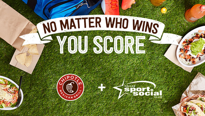 Chipotle BOGO Day w/ Dallas Sport & Social Club