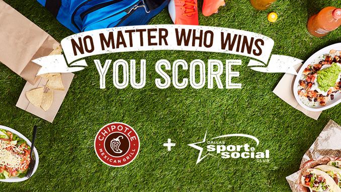 Chipotle BOGO Day w/ Dallas Sport & Social Club