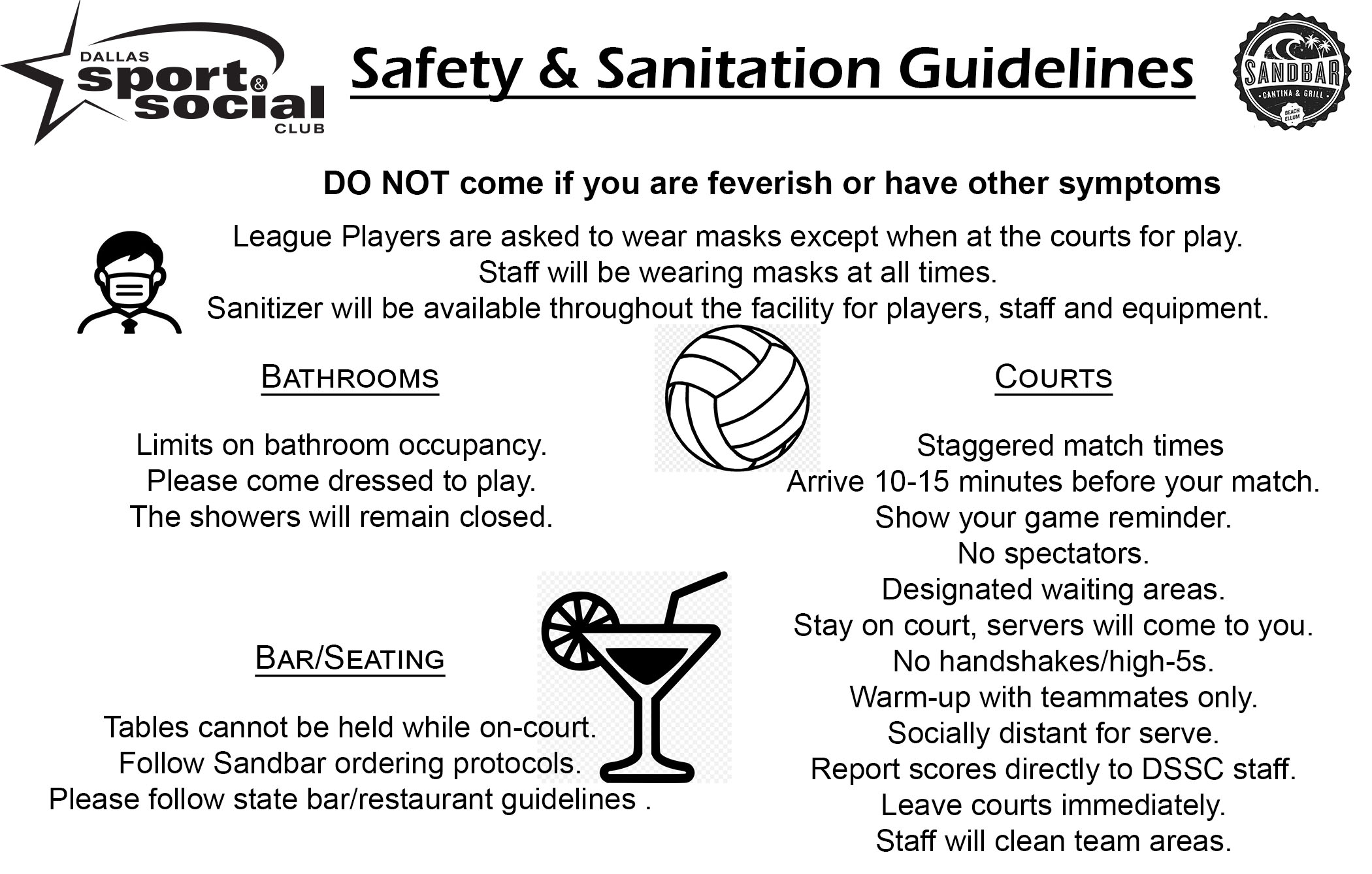 Pandemic-related safety guidelines